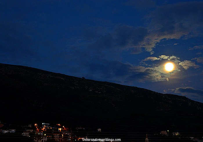 Supermoon as seen from Zakynthos