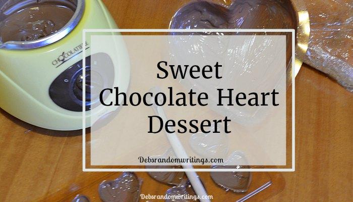 Sweet Chocolate Heart Dessert