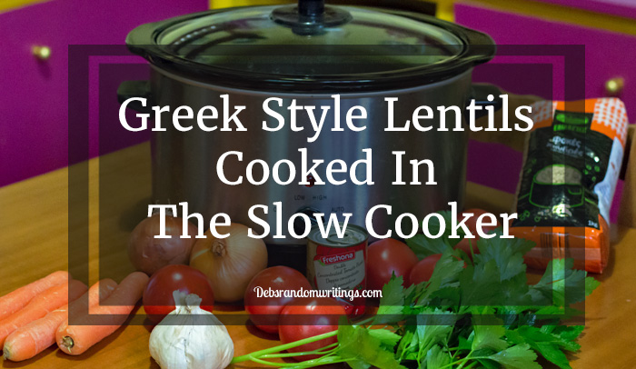 Greek Style Lentils Cooked In The Slow Cooker