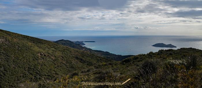 The view from Skopos towards Gerakas.