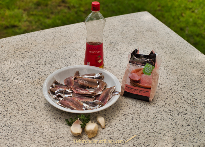 These simple ingredients are all you'll need to make marinaded fresh anchovies.