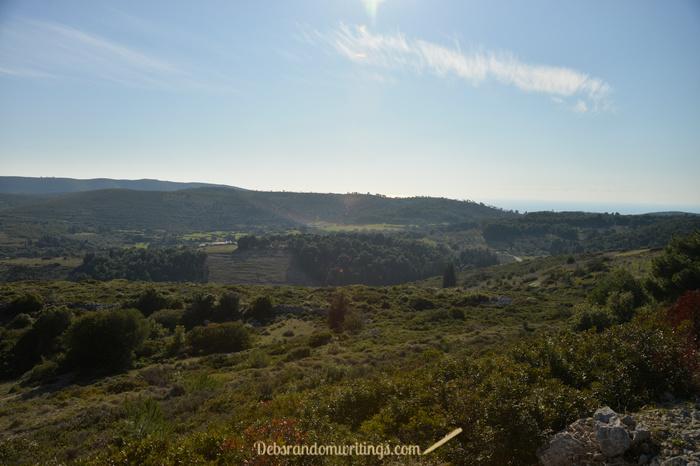 A dropping sun lights up the landscape on Zakynthos beautifully.