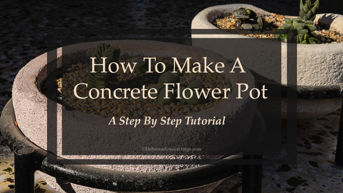 Title photo for concrete flower pot tutorial