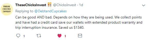 Thesechicksinvest twitter post