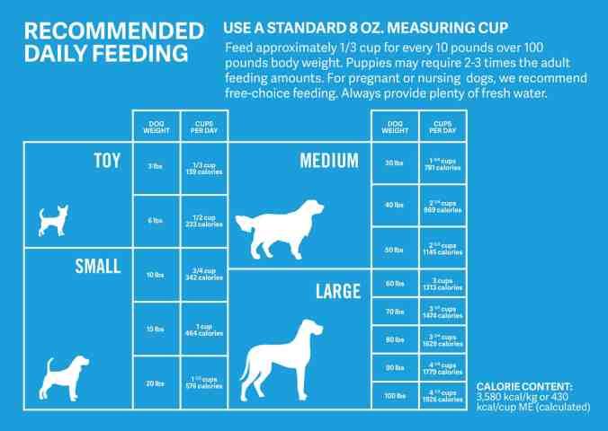 dog feeding chart