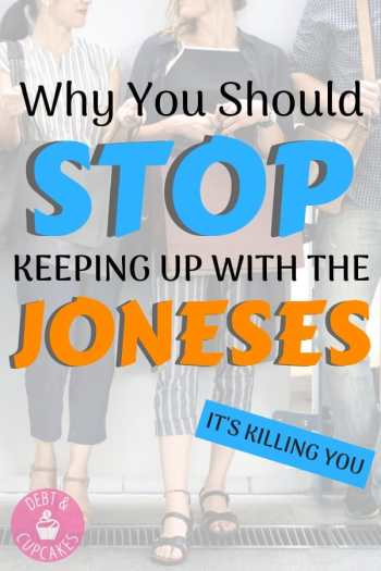 Keeping up with the Joneses is killing you