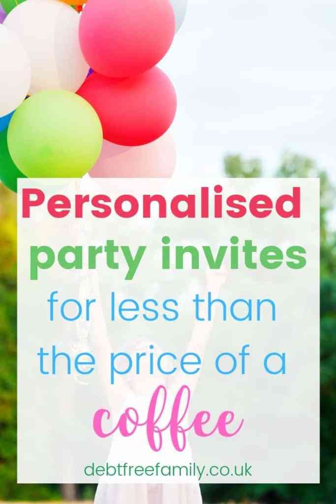 personalised party invites for less than the price of a coffee!   #partyideas #birthdaypartyideas #chocolatemedals #partyprizes #partyideas