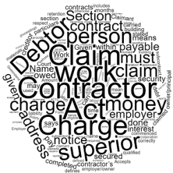 Construction Debt Recovery Subcontractors Charges Act