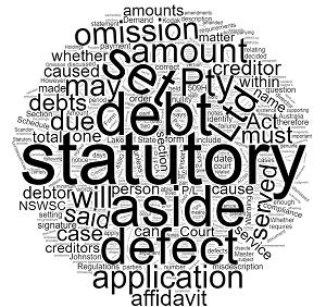 Setting Aside Statutory Demand Qld Defect in Demand