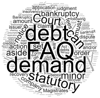 Debt recovery FAQ frequently asked questions Queensland