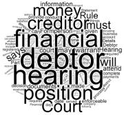 Enforcement Hearing & Statement of Financial Position in Queensland