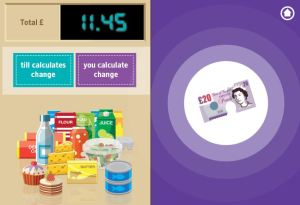 check out change, online money games for kids