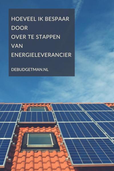 Besparen overstappen energieleverancier; debudgetman.nl