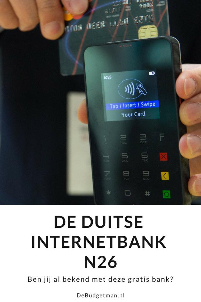 De Duitse internetbank N26; debudgetman.nl