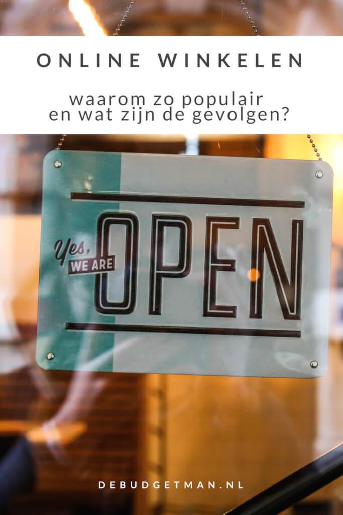 online winkelen; waarom populair, wat zijn de gevolgen; debudgetman.nl