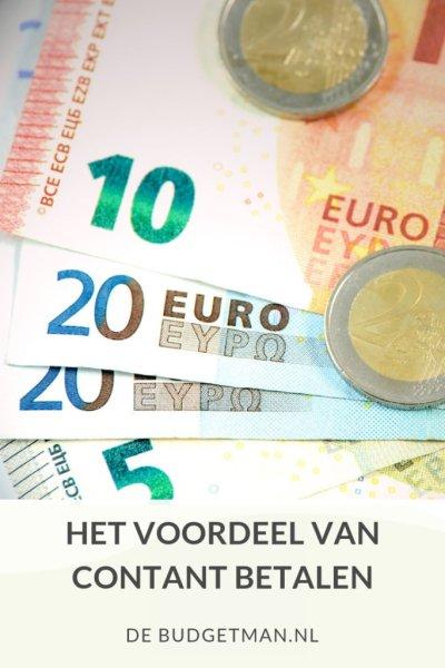 Het voordeel van contant betalen; DeBudgetman.nl