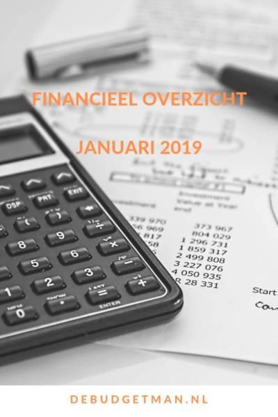 financieel overzicht januari 2019, DeBudgetman.nl