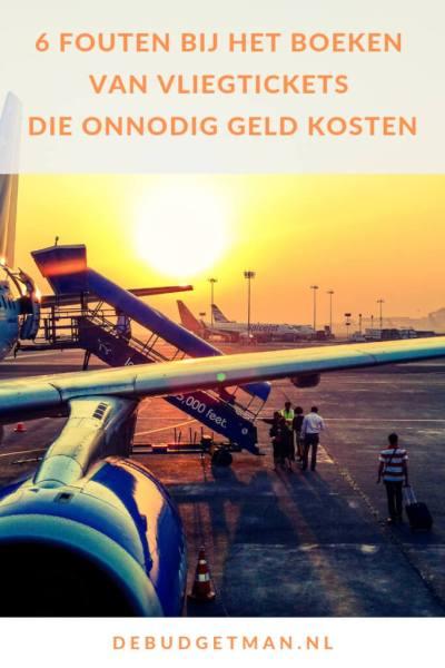 6 fouten bij het boeken van vliegtickets die onnodig geld kosten #DeBudgetman