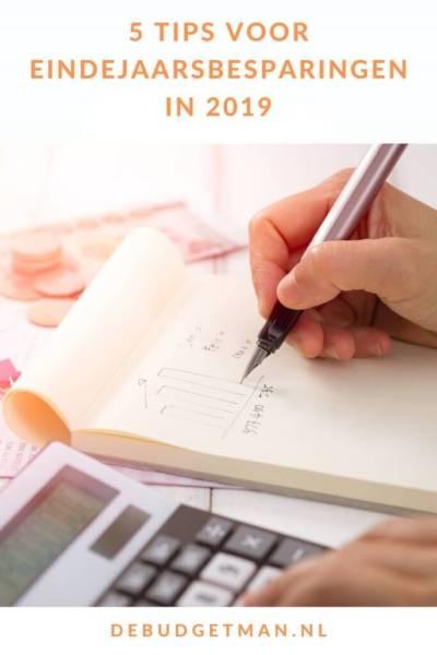 Tips voor eindejaarsbesparingen in 2019 #besparen #geld #budget #DeBudgetman
