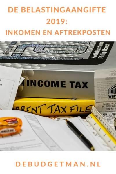 Belastingaangifte 2019 #belastingaangifte #belasting #budget #geld #DeBudgetman