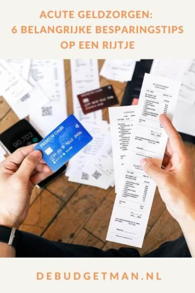 Acute geldzorgen: 6 besparingstips #geldzorgen #crisis #budget #besparen #DeBudgetman