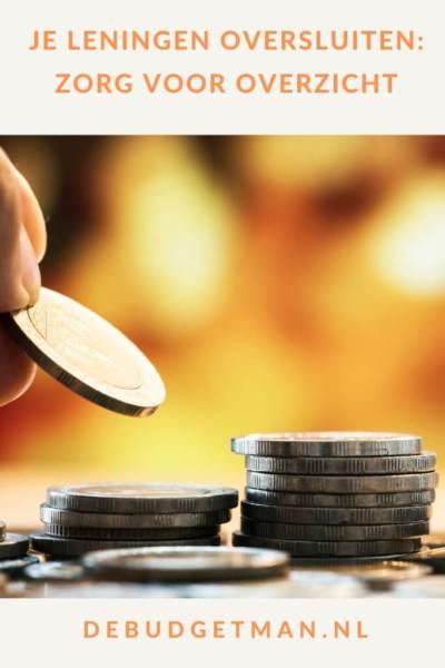 Je leningen oversluiten: zorg voor overzicht #geld #lenen #schulden #DeBudgetman