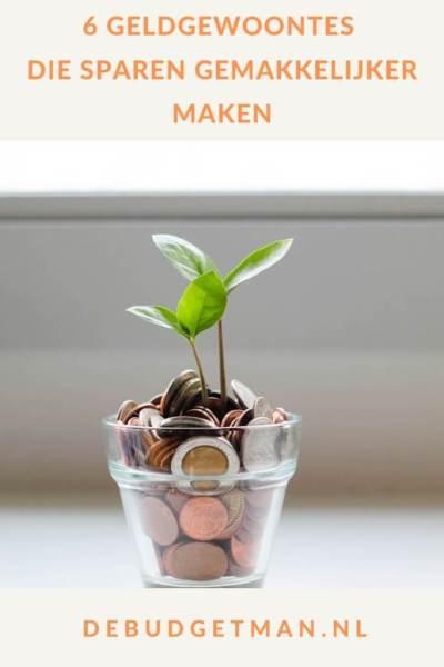 6 geldgewoontes die sparen gemakkelijker maken #geld #geldbesparen #DeBudgetman