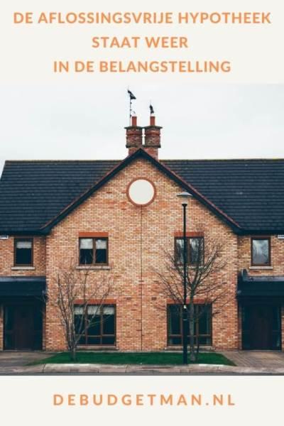 De aflossingsvrije hypotheek staat weer in de belangstelling #hypotheken #geld #wonen #huizen #DeBudgetman