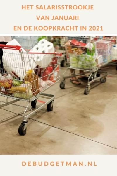 Het salarisstrookje van januari en de koopkracht in 2021 #geld #uitgaven #DeBudgetman