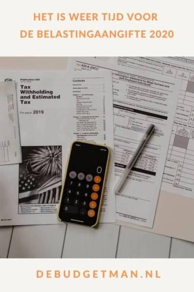 Het is weer tijd voor de belastingaangifte 2020 #belastingaangifte #geldbesparen #DeBudgetman