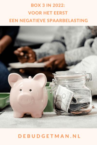Box 3 in 2022: een negatieve spaarbelasting #sparen #geldbesparen #DeBudgetman
