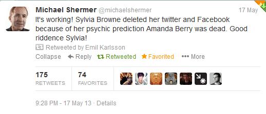 Shermer's reaction