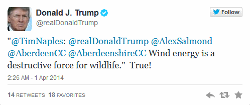 Trump on wind farms