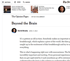 David Brooks and Neuroscience