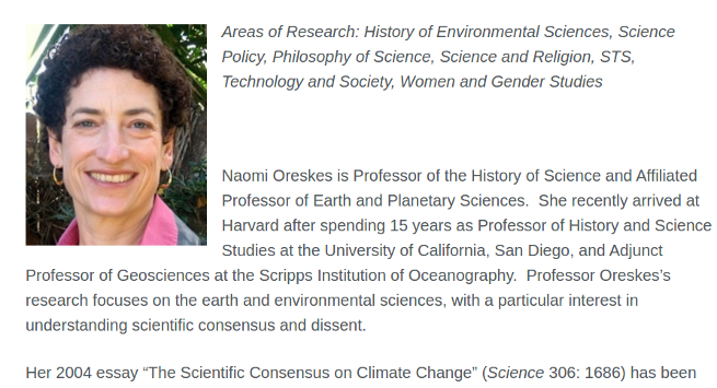 climate science hero naomi oreskes promotes anti gmo myths  debunking anti gmo