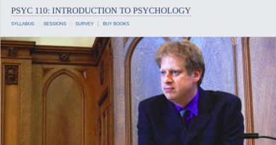 Introduction to Psychology Video Lectures From Yale
