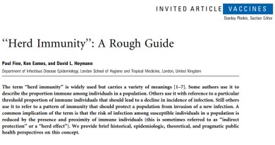 A Rough Guide to Herd Immunity
