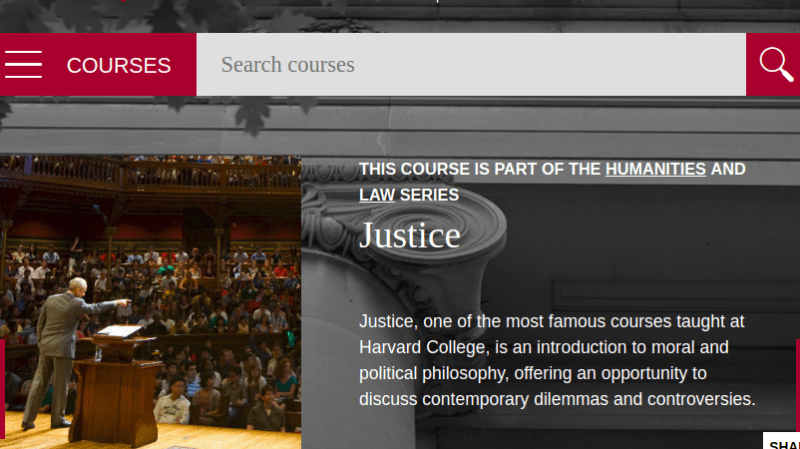 Justice video lectures
