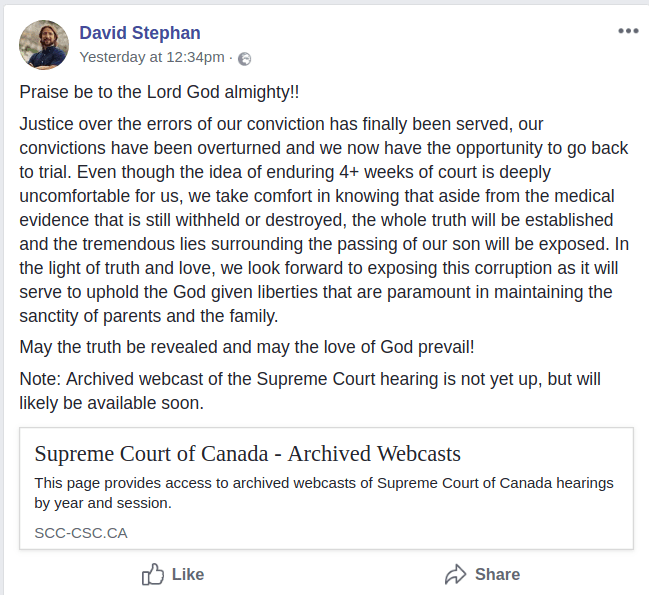 David Stephan rants on Facebook
