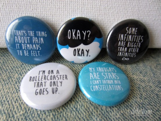 botons A Culpa é das Estrelas broches