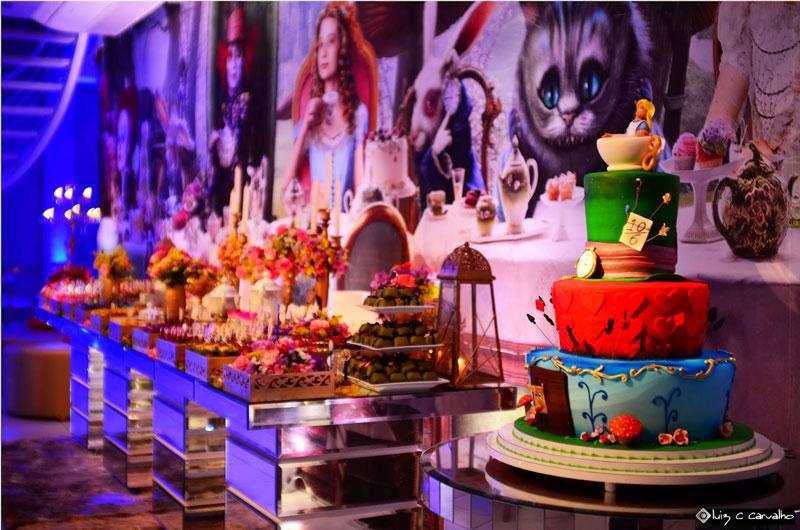 Festa Alice Wonderland - Temas para Festas de 15 anos