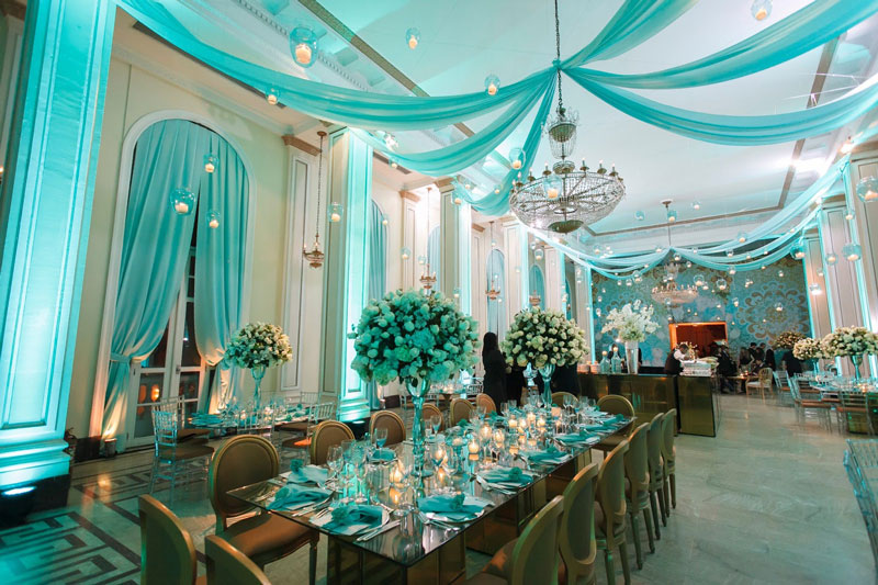 Festa Azul Tiffany - Temas