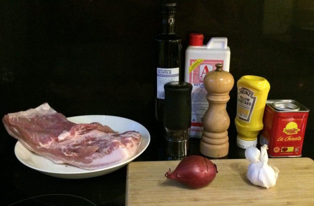 Ingrediënten zachtgegaard Zeeuws spek