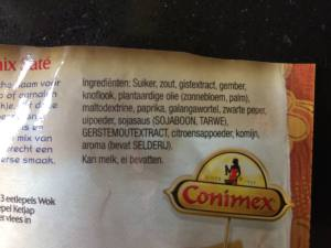 Ingrediënten Conimex sate
