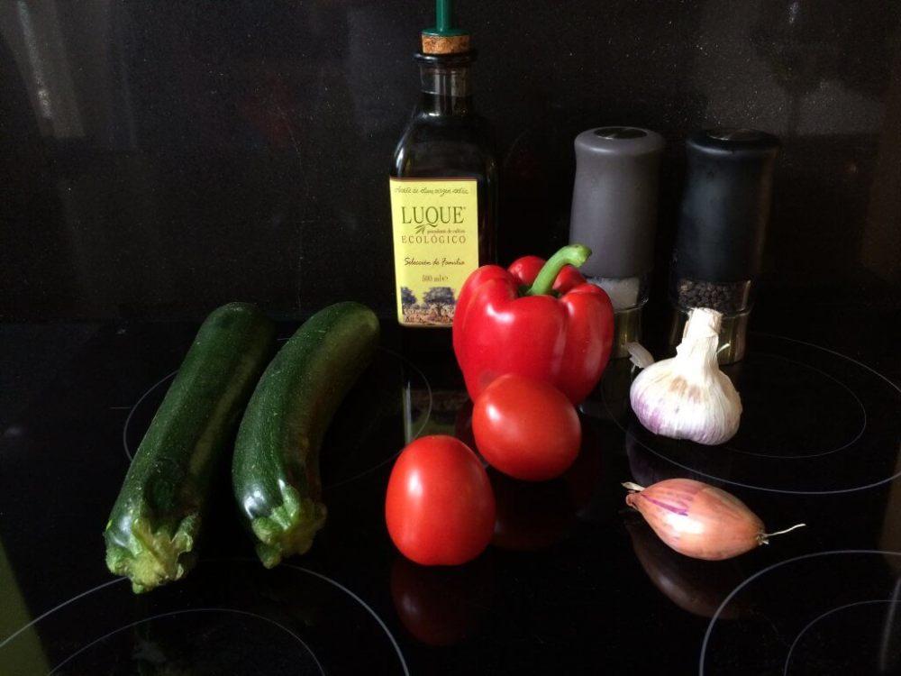 Ingrediënten gevulde courgette