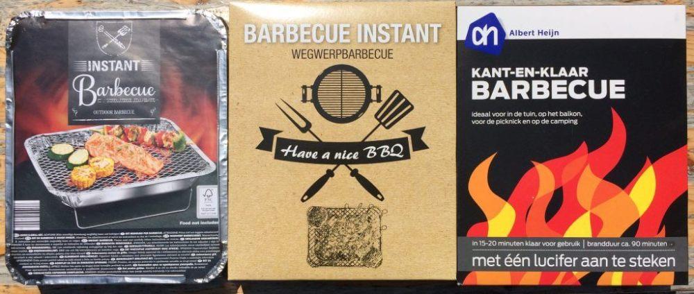 Wegwerpbarbecues