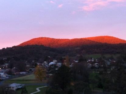 Orange in the hills