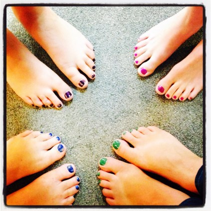 Painted toes