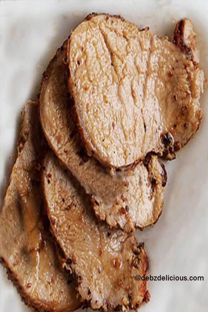 goan pork roast recipe, how to make goan roast pork, pork asado
