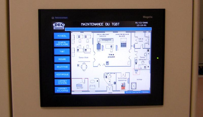 TGBT Pdagogique Communicant DEC Industrie
